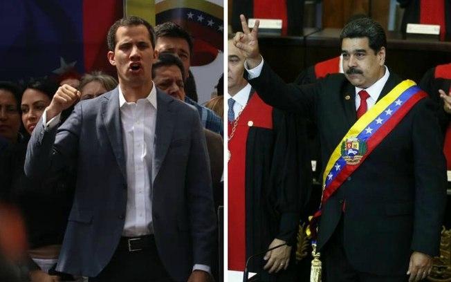 Imagem: Twitter Guidó/Twitter Maduro