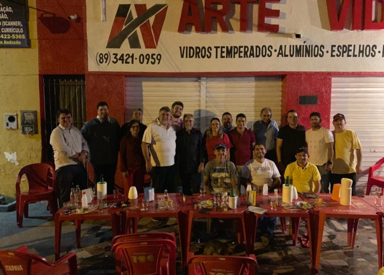Reunião do Empresario Araujinho e a base do governo da Câmara municipal de Picos