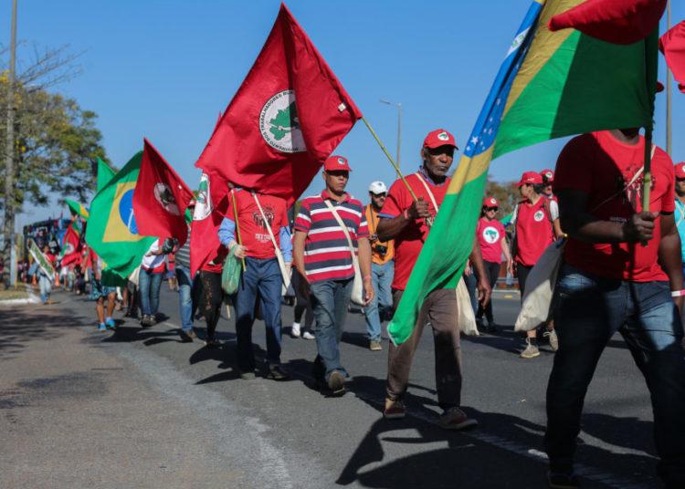 Marcha Nacional Lula Livre, entrando no Eixo Sul. Brasilia, 14-08-2018.Foto: Sérgio Lima/Poder 360
