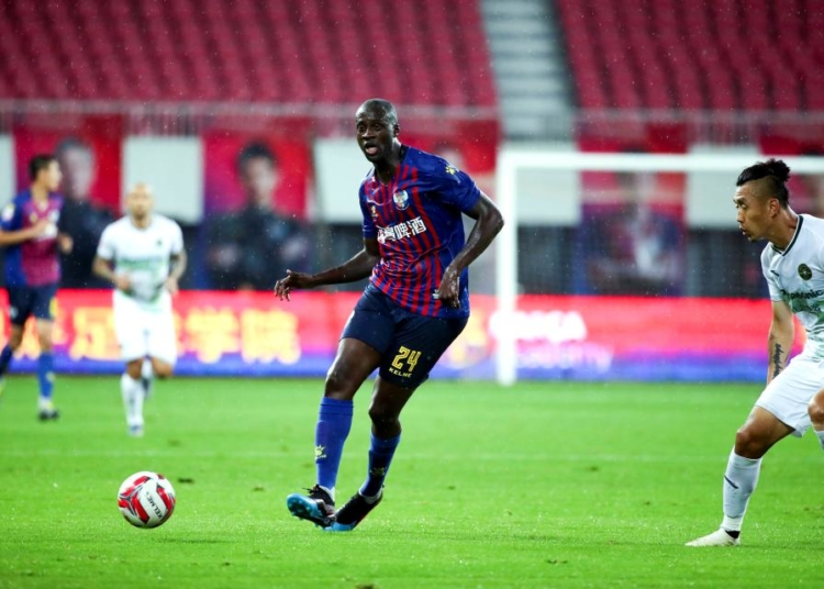 QINGDAO, CHINA - JULY 06: Yaya Toure #24 of Qingdao Huanghai in action during the 16th round match of 2019 China League One between Qingdao Huanghai and Zhejiang Greentown at Qingdao Guoxin Stadium on July 6, 2019 in Qingdao, Shandong Province of China. (Photo by Visual China Group via Getty Images/Visual China Group via Getty Images)