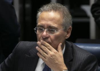 Senador Renan Calheiros no plenário do Senado durante o preocesso de votação do novo presdinete do Senado. BsB 02-02-2019. Foto: Sérgio Lima/PODER 360