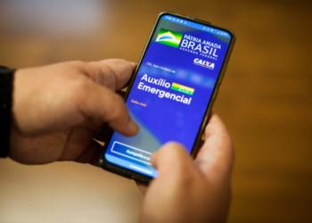 Auxílio Emergencial, aplicativo da Caixa Econômica Federal (CEF) para o pagamento digital em 2021. Sérgio Lima/Poder360 06.04.2021.