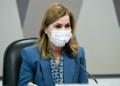 A secretária do Ministério da Saúde Mayra Pinheiro em depoimento à CPI nesta terça  Fonte: Agência Senado