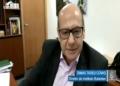 Dimas Covas em reunião remota com senadores da Comissão da Covid-19, em abril  Fonte: Agência Senado