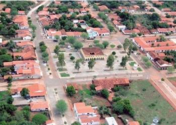 Vista aérea da cidade de São João da Varjota, desmembrada de Oeiras em 1994. Localiza-se no centro-sul do Piauí, a 287 km da capital, Teresina.