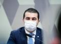 O deputado Luis Miranda em depoimento à CPI da Pandemia  Foto: Pedro França/Agência Senado  Fonte: Agência Senado
