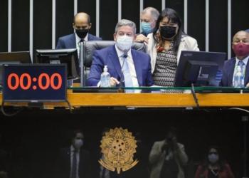 Presidente da Câmara, Arthur Lira, comanda a sessão do Plenário  Foto: Pablo Valadares/Câmara dos Deputados  Fonte: Agência Câmara de Notícias