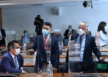 Senadores Ciro Nogueira, Marcos Rogério e Eduardo Girão  Foto: Edilson Rodrigues/Agência Senado  Fonte: Agência Senado