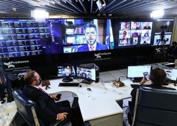 Sessão Remota Senado Federal 17062021  Foto: Edilson Rodrigues/Agência Senado  Fonte: Agência Senado