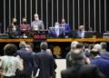 Sessão deliberativa desta quarta-feira (23)  Foto: Pablo Valadares/Câmara dos Deputados  Fonte: Agência Câmara de Notícias