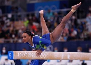 Rebeca Andrade foi a primeira ginasta do Brasil a ganhar medalha olímpica Foto: Mike Blake / Reuters