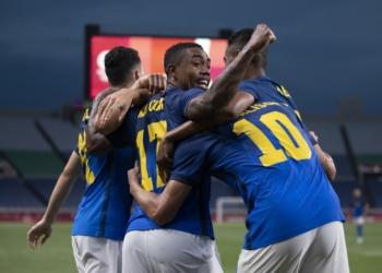 Brasil x Arábia Saudita pela terceira rodada da Olimpíada de Tóquio Créditos: Lucas Figueiredo/CBF
