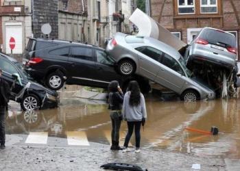 Reprodução O Globo Chuvas causam destruição e mortes na Europa; especialistas falam em mudanças climáticas