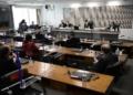 Plenário da CPI nesta quinta-feira, durante depoimento de Cristiano Carvalho, da Davati  Fonte: Agência Senado