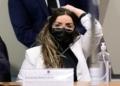 Emanuela Batista Medrades na CPI  Foto: Pedro França/Agência Senado  Fonte: Agência Senado