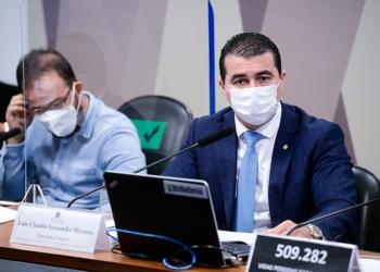 Deputado Luis Miranda na CPI da Pandemia.  Foto: Pedro França/Agência Senado  Fonte: Agência Senado