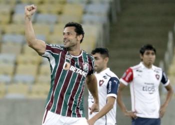 Fred comemorando o gol  Foto: Antonio Lacerda/Reuters