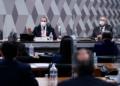 Omar Aziz e Renan Calheiros na reunião desta terça, em que depoentes não compareceram Pedro França/Agência Senado  Fonte: Agência Senado