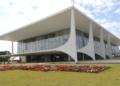 Palácio do Planalto na Praça dos Três Poderes em Brasília