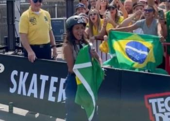 Rayssa Leal é campeã da Liga Mundial de Skate Street Foto: Reprodução/SLS