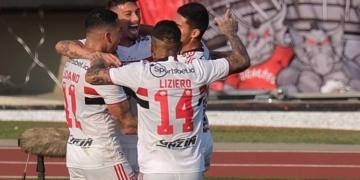 São Paulo e Atlético-GO se enfrentam na 21ª rodada do Brasileirão Assaí Créditos: Marcello Zambrana/AGIF