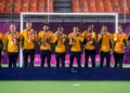 Jogadores brasileiros do futebol de 5 exibem orgulhosos a medalha de ouro conquistada em Tóquio / Foto: Alê Cabral/CPB