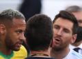 Brasil e Argentina foi interrompido logo aos 6 minutos do primeiro tempo AMANDA PEROBELLI/REUTERS - 05.09.2021