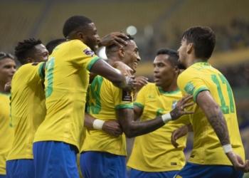 Brasil x Uruguai na Arena da Amazônia pelas Eliminatórias da Copa do Mundo Créditos: Lucas Figueiredo/CBF
