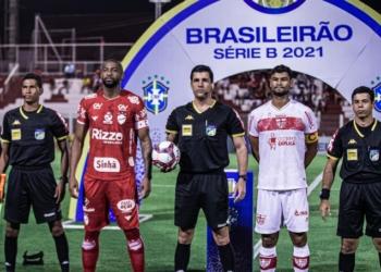 Vila Nova e CRB ficaram frente a frente na abertura da 31ª rodada da Série B  Créditos: Heber Gomes/AGIF